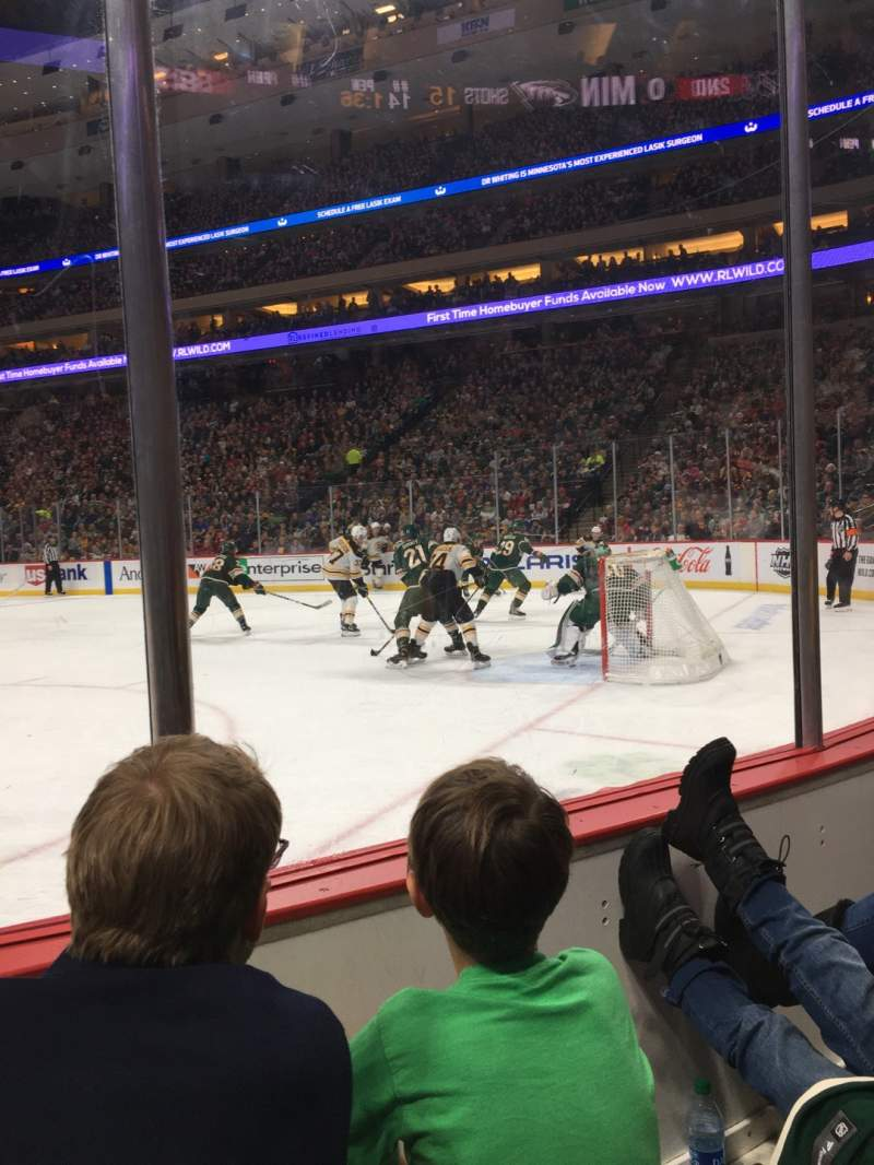 Seating view for Xcel Energy Center Section 112 Row 2 Seat 6