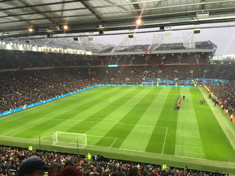 Seating view for Old Trafford Section W3105 Row 6 Seat 41