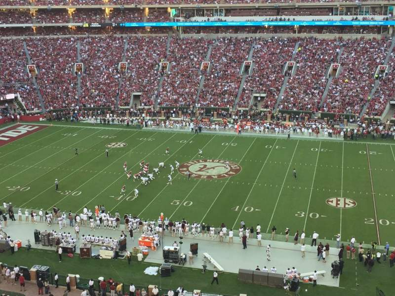 Seating view for Bryant-Denny Stadium Section U4-KK Row 1 Seat 6