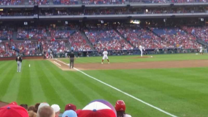 Seating view for Citizens Bank Park Section 109 Row 9 Seat 3