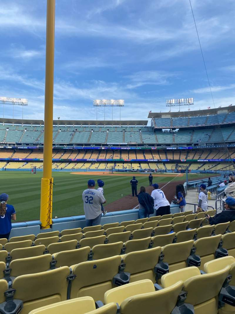 Seating view for Dodger Stadium Section 49FD Row G Seat 15