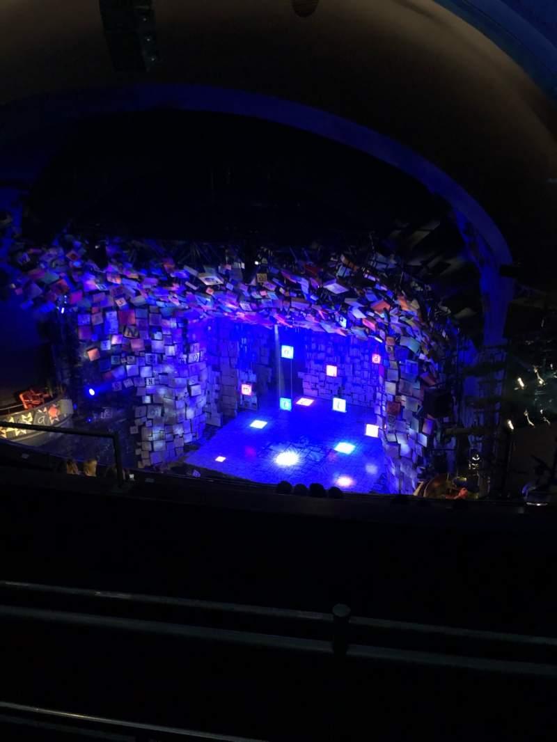 Cambridge Theatre Section Upper Circle Row H Seat 4