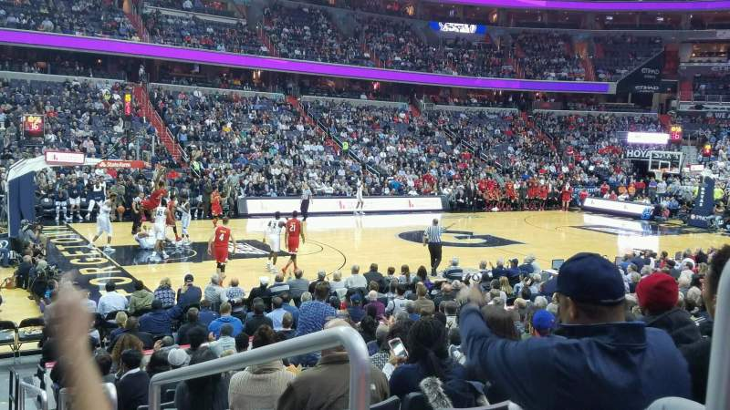 Seating view for Capital One Arena Section 109 Row N Seat 17