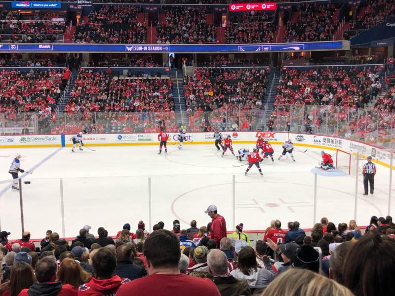 Seating view for Capital One Arena Section 101 Row Q Seat 20