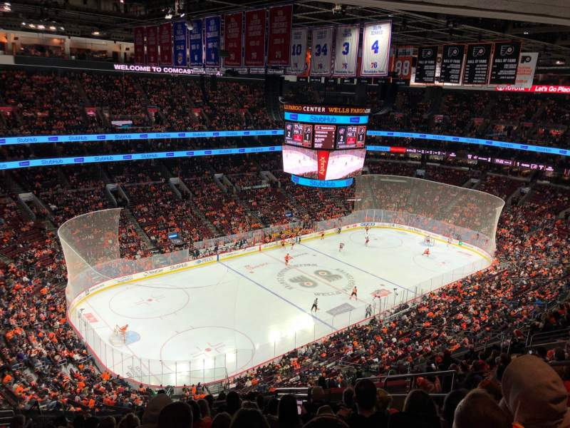 Seating view for Wells Fargo Center Section 210 Row 15 Seat 12