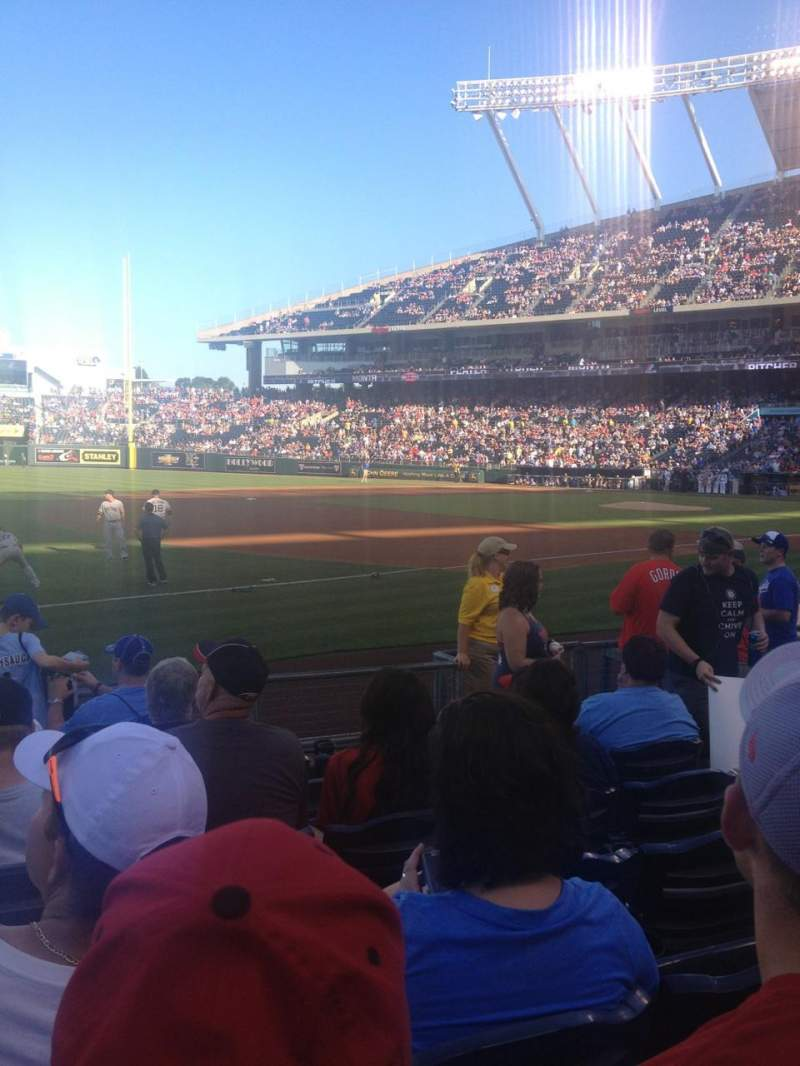 Seating view for Kauffman Stadium Section 115 Row H Seat 5