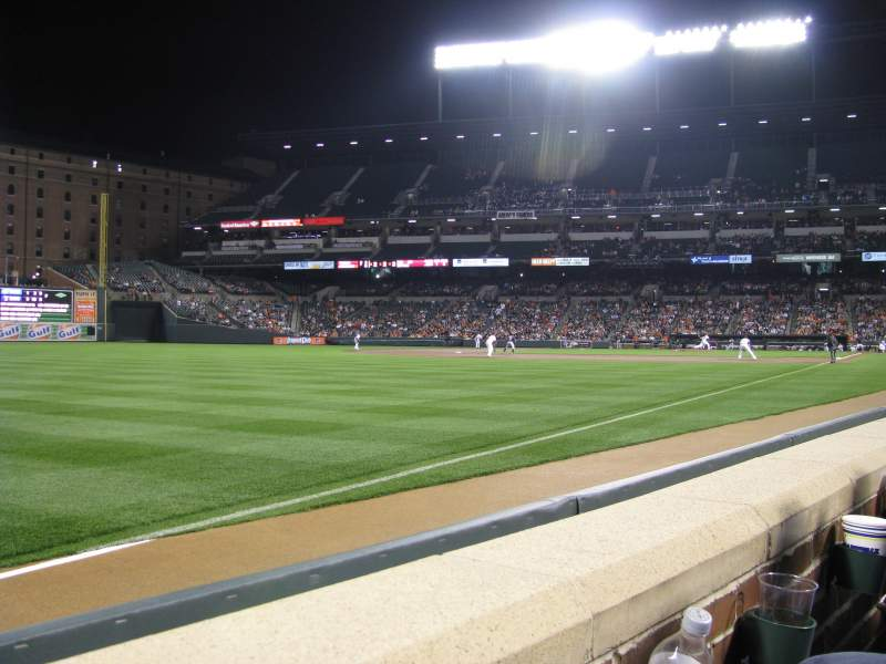 Seating view for Oriole Park at Camden Yards Section 68 Row 1 Seat 14