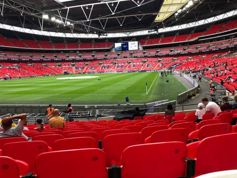 wembley stadium section 108 row 16 seat 182 tottenham. Black Bedroom Furniture Sets. Home Design Ideas
