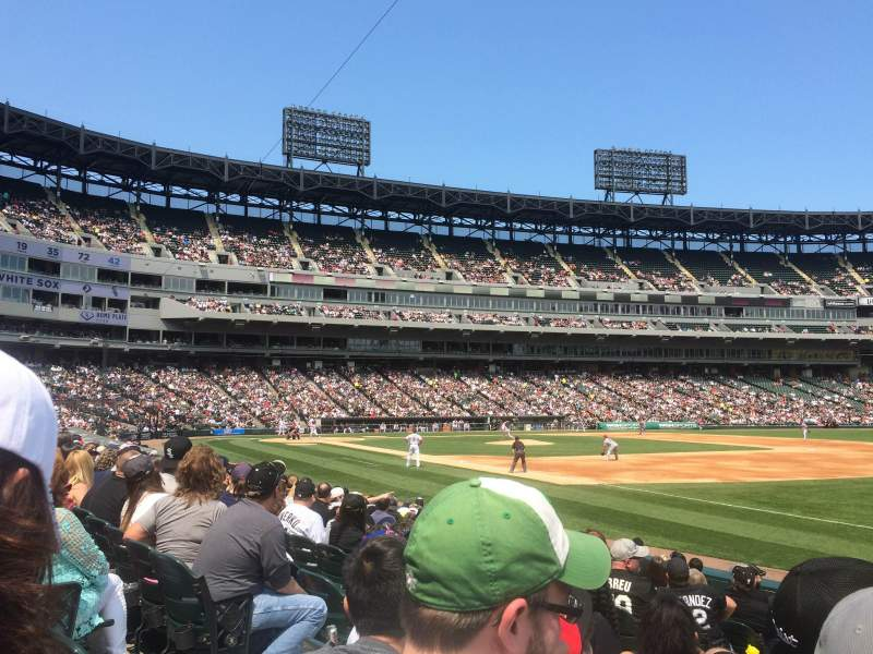 Seating view for Guaranteed Rate Field Section 117 Row 11 Seat 4