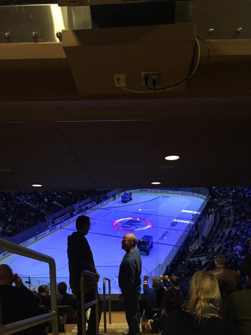 Seating view for Madison Square Garden Section 418 Row 7 Seat 1