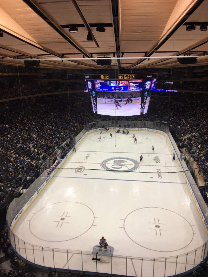 Madison Square Garden Section 306 Row G Seat 3 Home Of