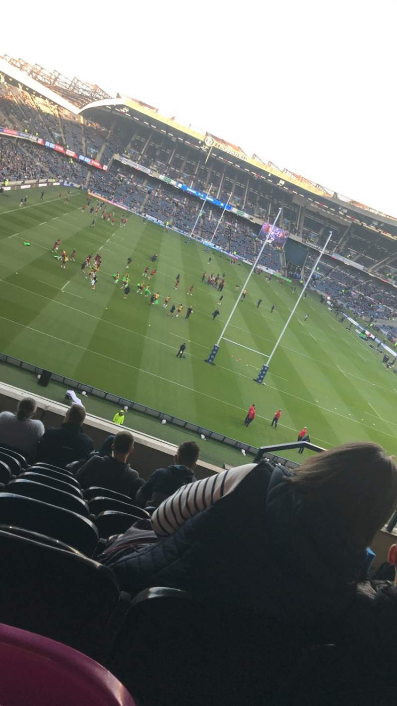 Seating view for Murrayfield Stadium Section North Row H Seat 12