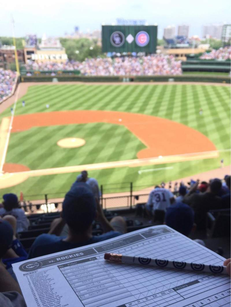 Seating view for Wrigley Field Section 427 Row 10 Seat 101