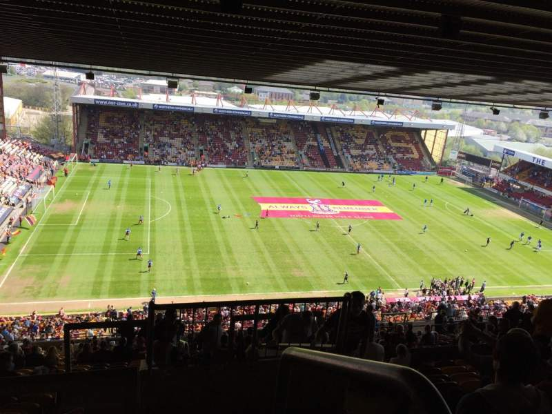 Seating view for Valley Parade Section M Row EE Seat 264