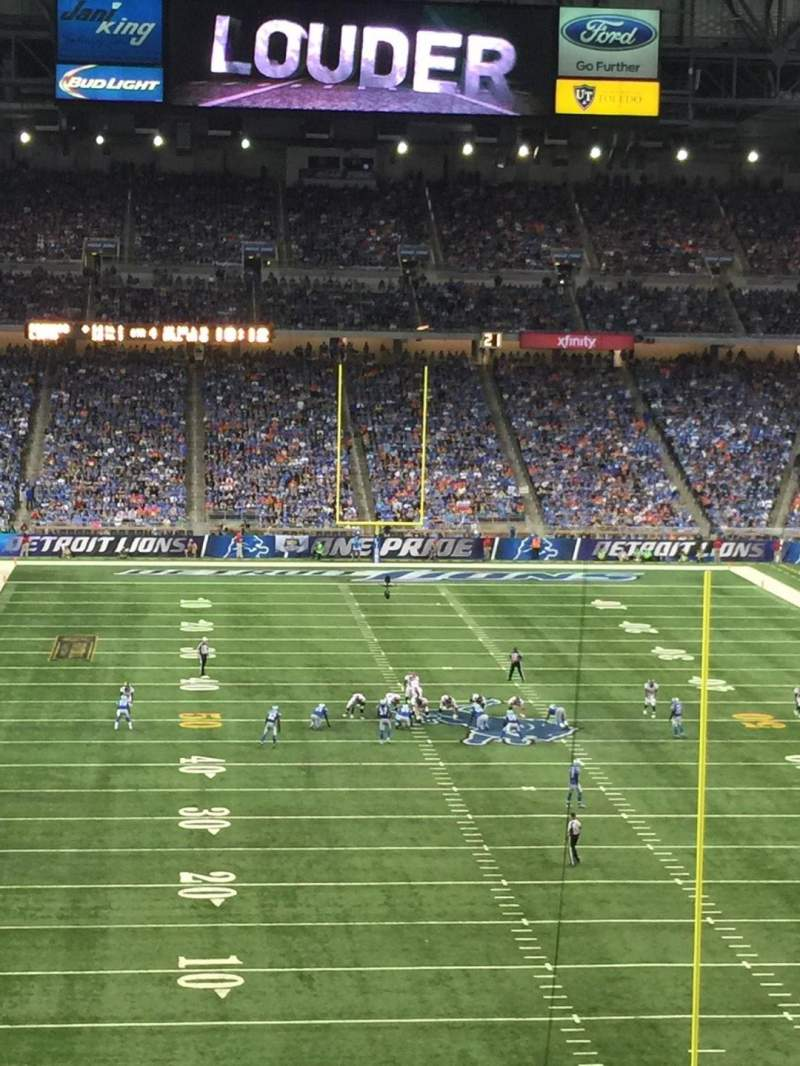 Seating view for Ford Field Section 217 Row 10 Seat 15