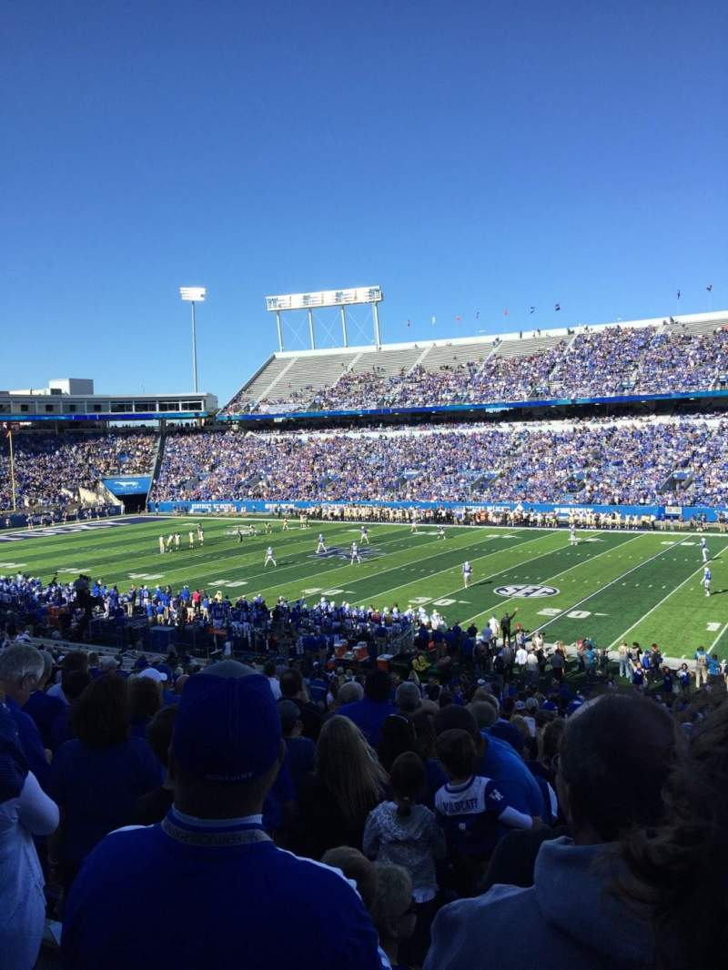 Seating view for Kroger Field Section 29 Row 39 Seat 14