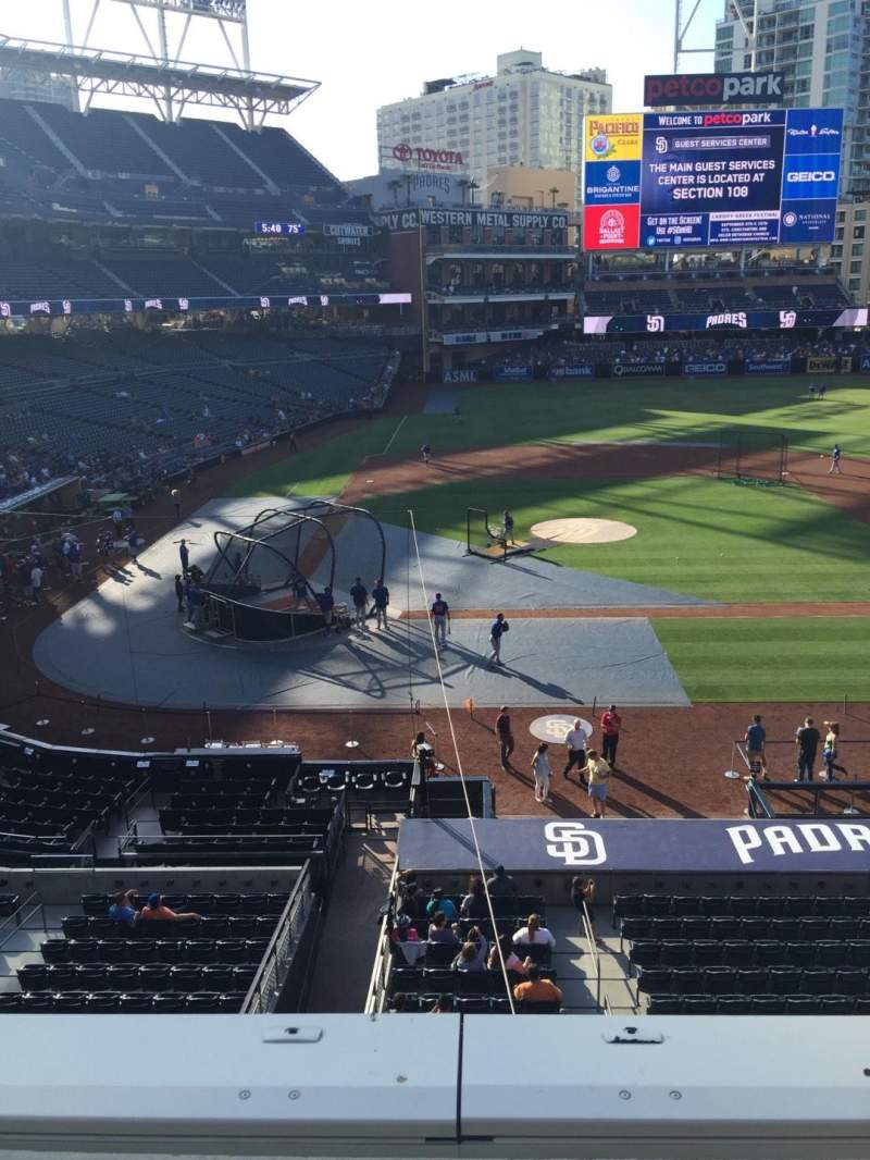PETCO Park, section: 205, row: 1, seat: 1