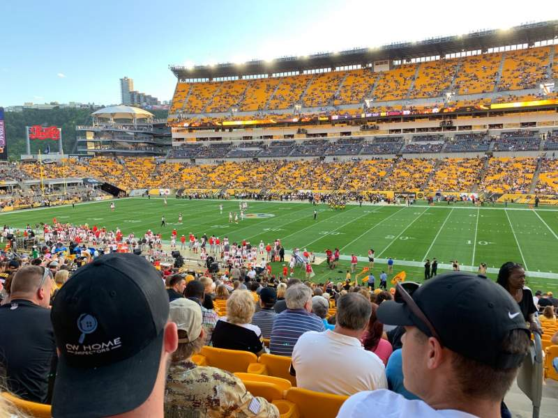 Seating view for Heinz Field Section 113 Row FF Seat 1