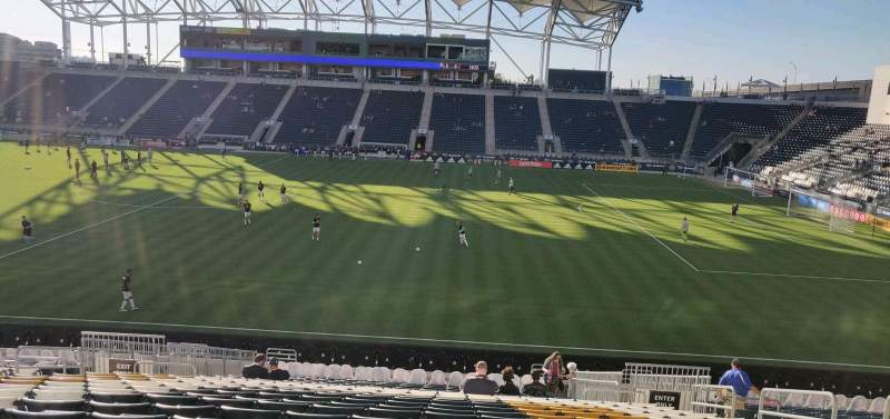 Seating view for Subaru Park Section 125 Row Z Seat 8