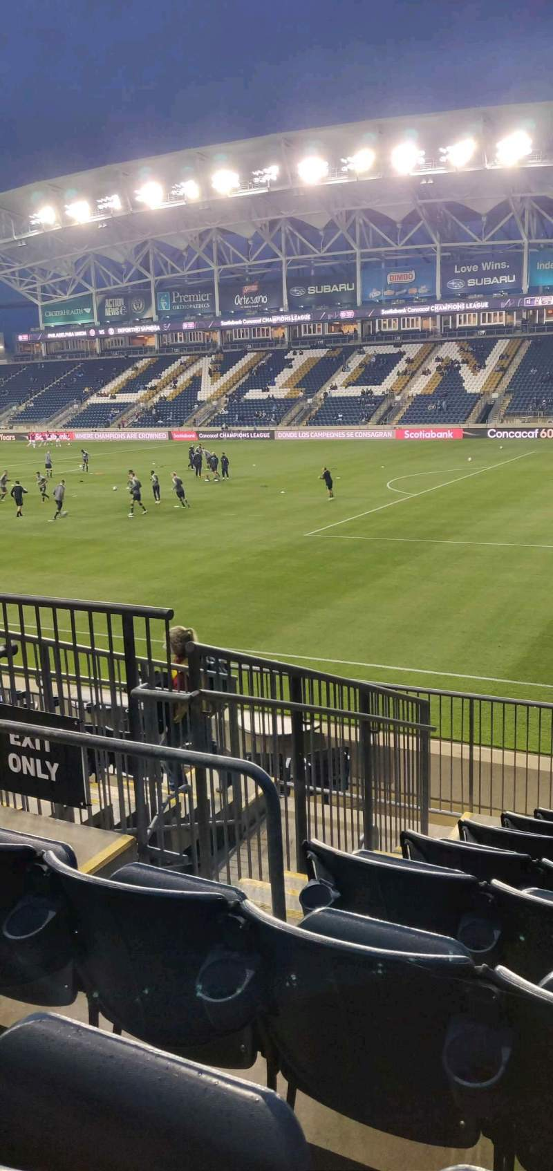 Seating view for Subaru Park Section 102 Row M Seat 12