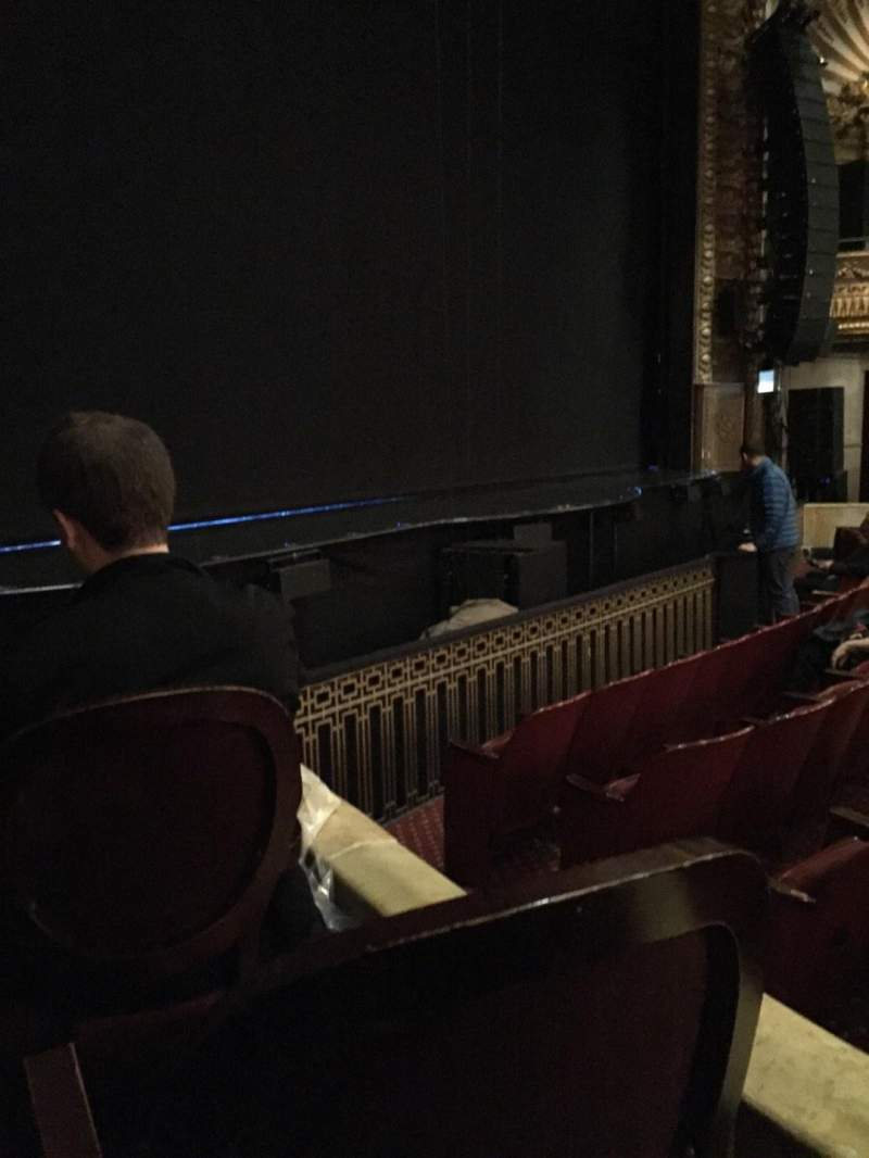 Seating view for Palace Theatre (Broadway) Section Orch Row E Seat 1