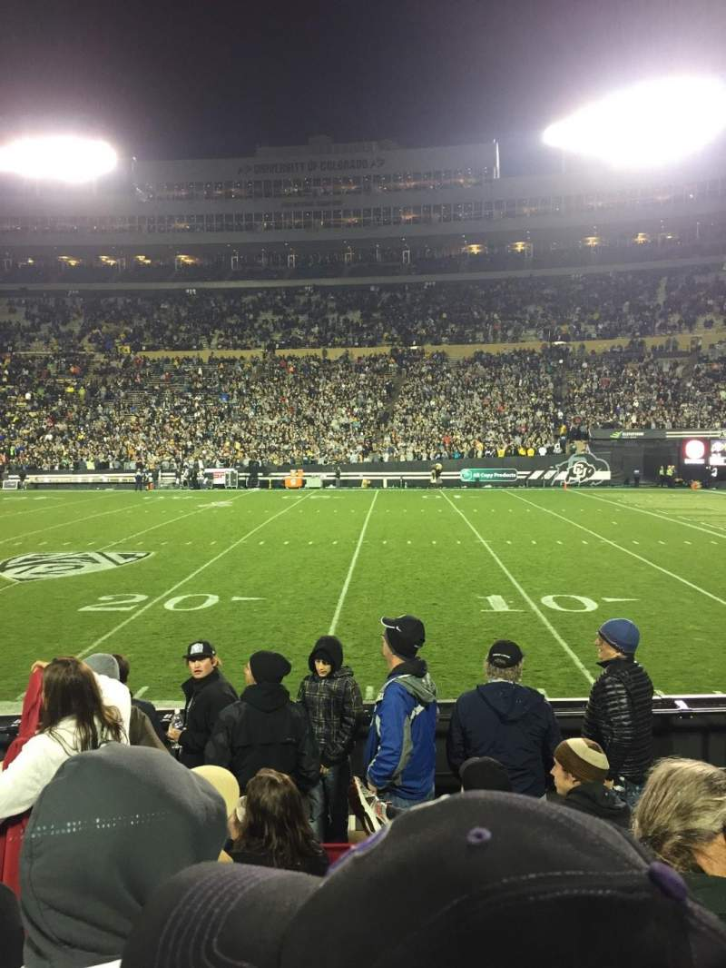Seating view for Folsom Field Section 108 Row 14 Seat 8