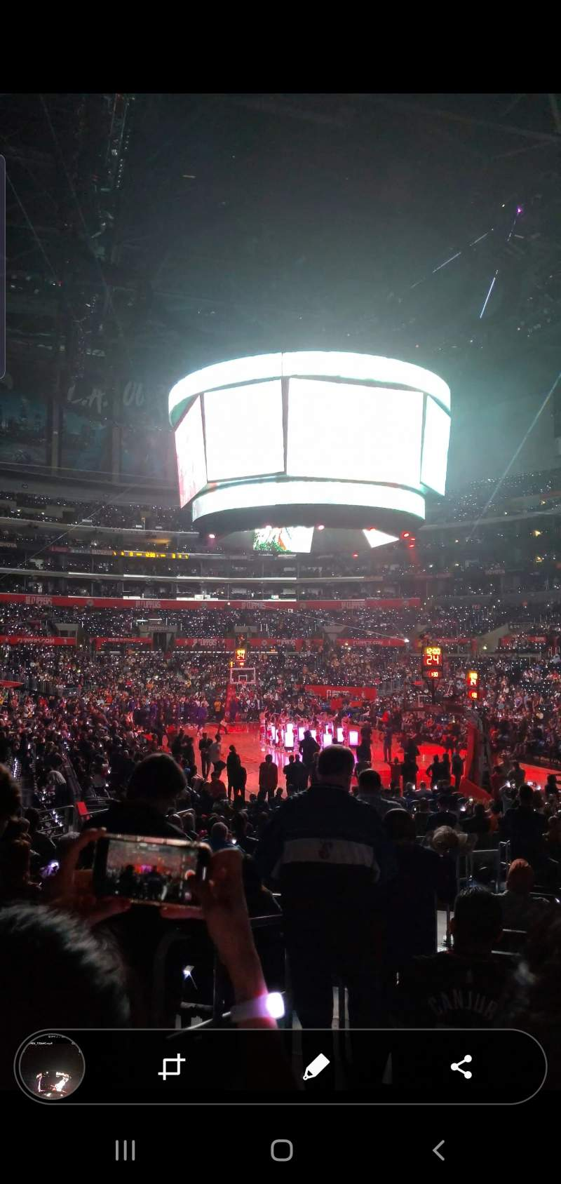 Seating view for staples center Section 116 Row 16 Seat 31