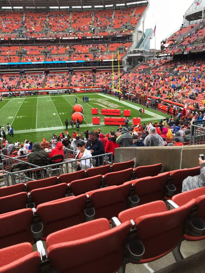 Seating view for FirstEnergy Stadium Section 136 Row 28 Seat 3