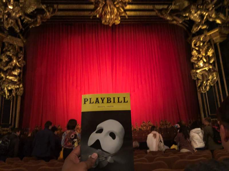 Seating view for Majestic Theatre Section Orchestra C Row H Seat 106