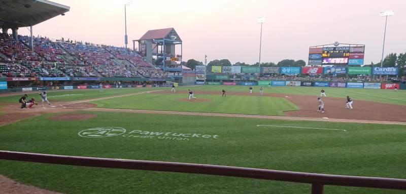 McCoy Stadium, section: 2, row: B, seat: 15