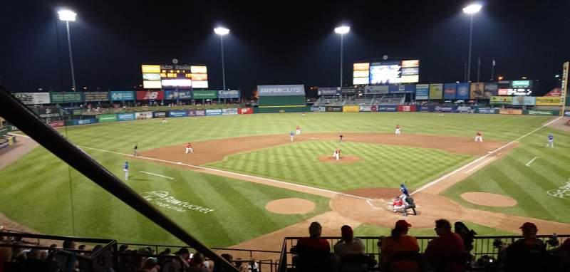 McCoy Stadium, section: 7, row: EE, seat: 18
