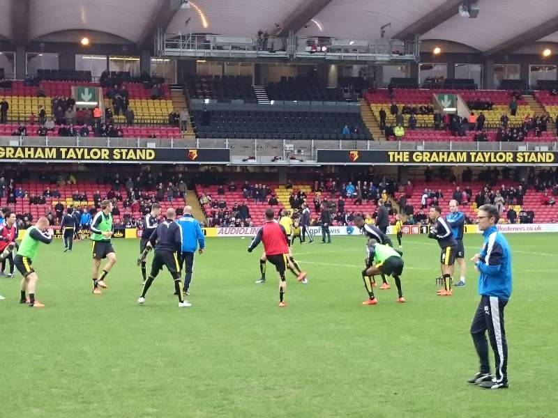 Seating view for Vicarage Road Section SEJ3 Row CC Seat 71