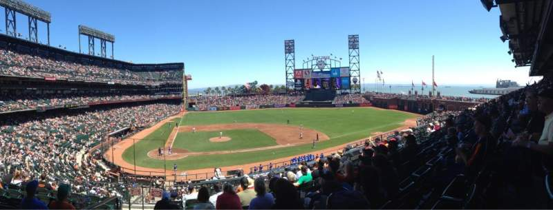 AT&T Park, section: 210, row: H, seat: 16
