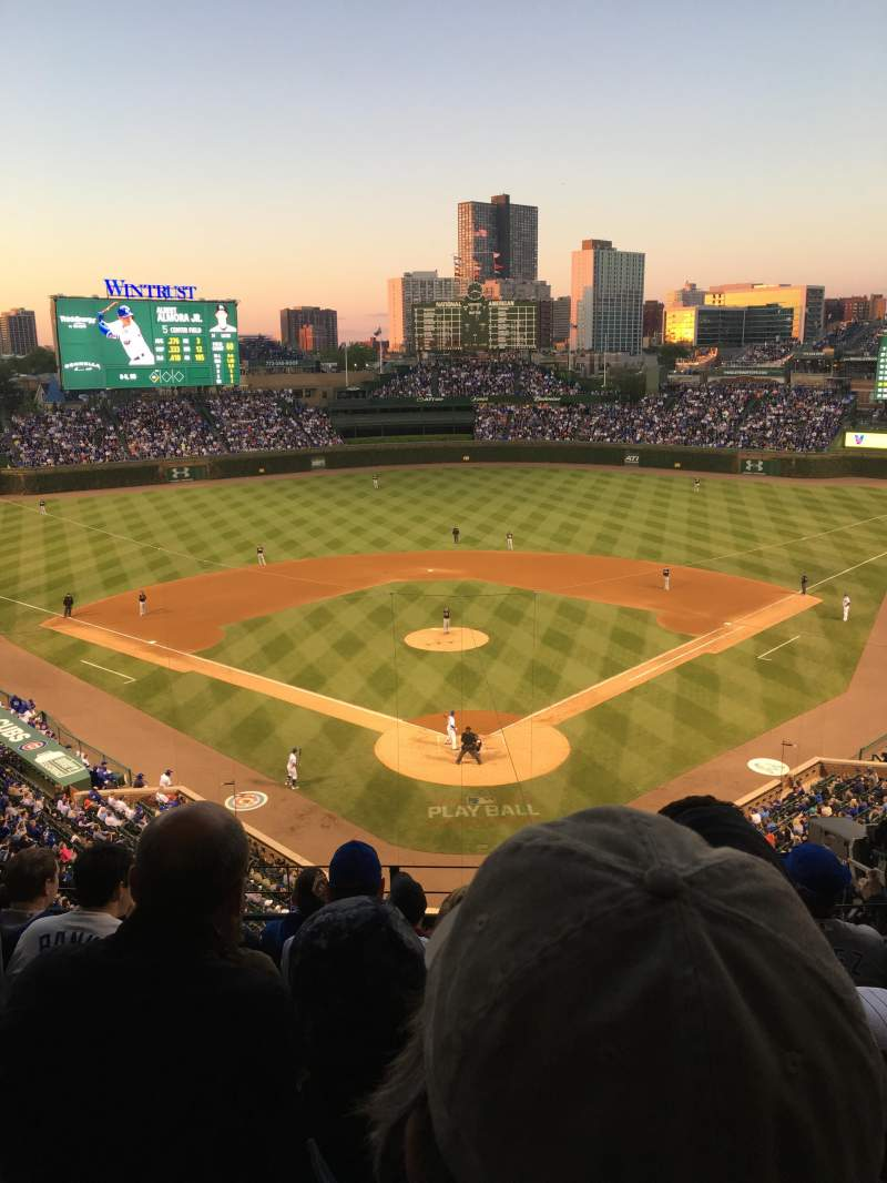 Wrigley Field Section 317r Row 7 Seat 7 Chicago Cubs Vs Miami