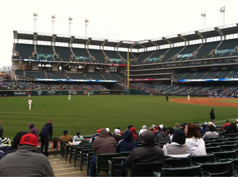 Seating view for Progressive Field Section 175 Row P Seat 1
