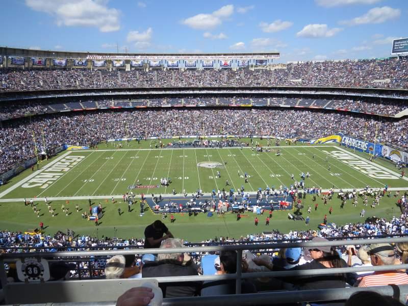 Sdccu Stadium Section V36 Row 6 Seat 14 San Diego