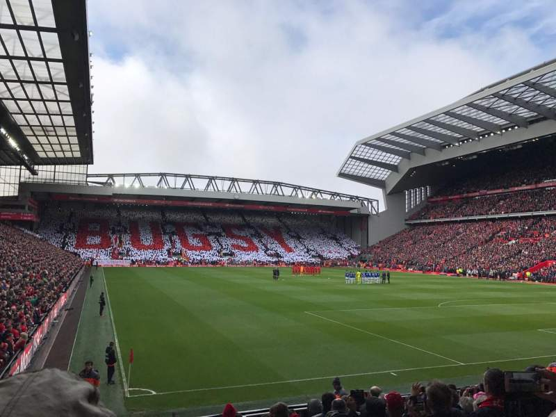 Seating view for Anfield Section 127 Row 16 Seat 182