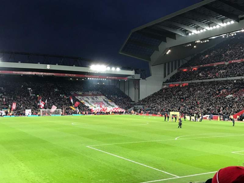 Seating view for Anfield Section 127 Row 17 Seat 178